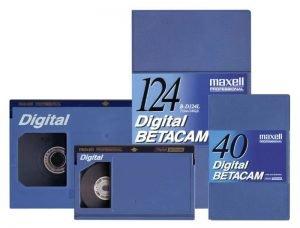 Dijital Betecam Kaset - 124lük ve 40lık